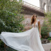 Mira Couture Solo Merav Alesandra Wedding Dress Bridal Gown Chicago Boutique Front