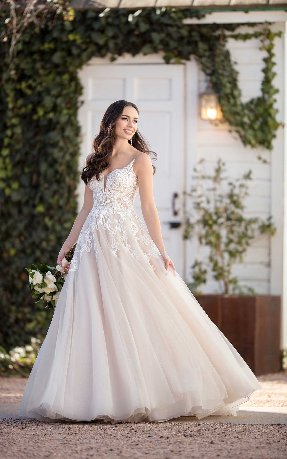 Mira Couture Martina Liana 984 Wedding Dress Bridal Gown Chicago Boutique Front Full