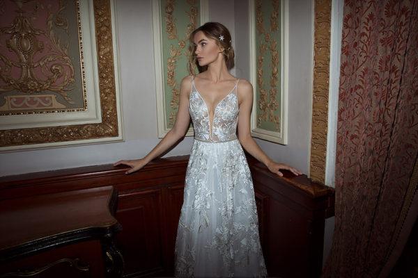 Mira Couture Neta Dover 1100818 Wedding Dress Bridal Gown Chicago Boutique Detail