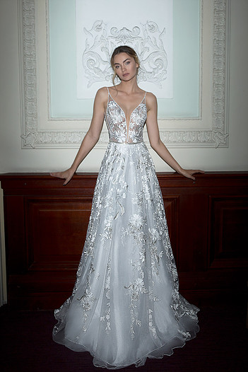 Mira Couture Neta Dover 1100818 Wedding Dress Bridal Gown Chicago Boutique Front