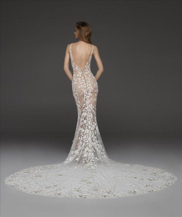 Mira Couture Atelier Pronovias Coralie Wedding Dress Bridal Gown Chicago Boutique Back