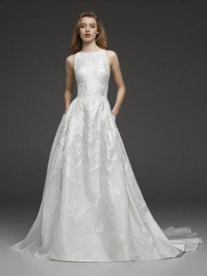 Mira Couture Atelier Pronovias Cynthia Wedding Dress Bridal Gown Chicago Boutique Front