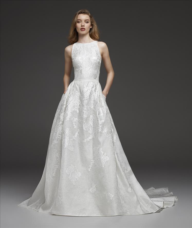 Mira Couture Atelier Pronovias Cynthia Wedding Dress Bridal Gown Chicago Boutique Front