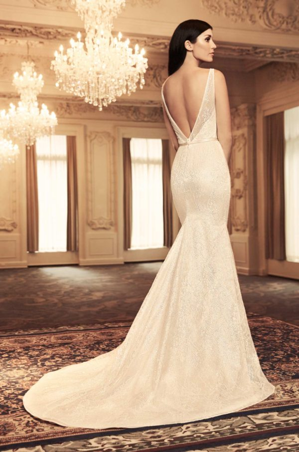Mira Couture Paloma Blanca 4804 Wedding Dress Bridal Gown Chicago Boutique Back