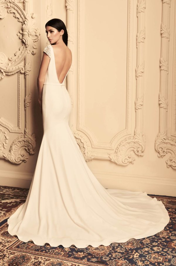 Mira Couture Paloma Blanca 4807 Wedding Dress Bridal Gown Chicago Boutique Back