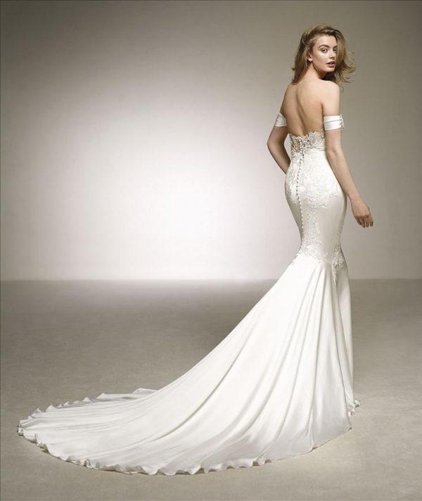 Mira Couture Pronovias Dante Wedding Dress Bridal Gown Chicago Boutique Back