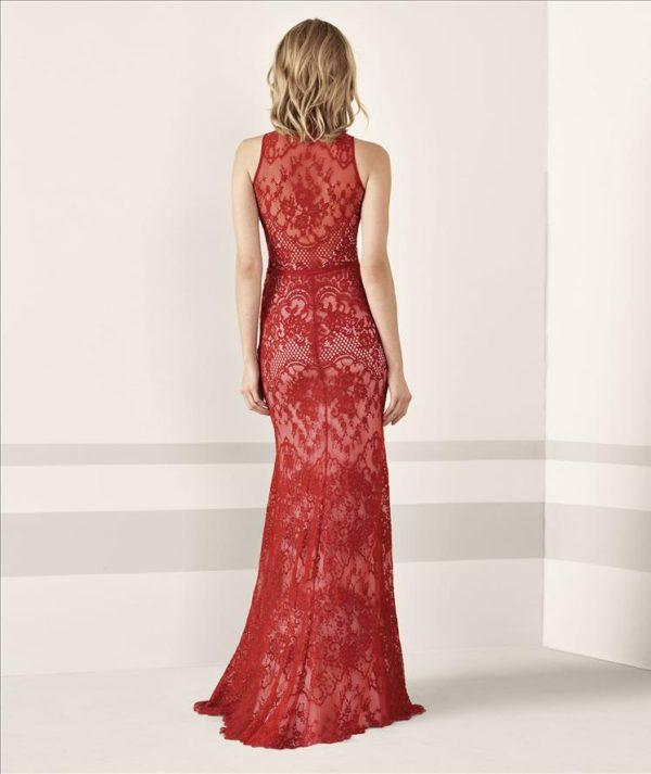 Mira Couture Pronovias Janele Evening Formal Wear Back