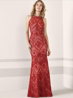Mira Couture Pronovias Janele Evening Formal Wear Front