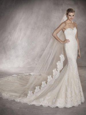Mira Couture Pronovias Princia Wedding Dress Bridal Gown Chicago Boutique Front