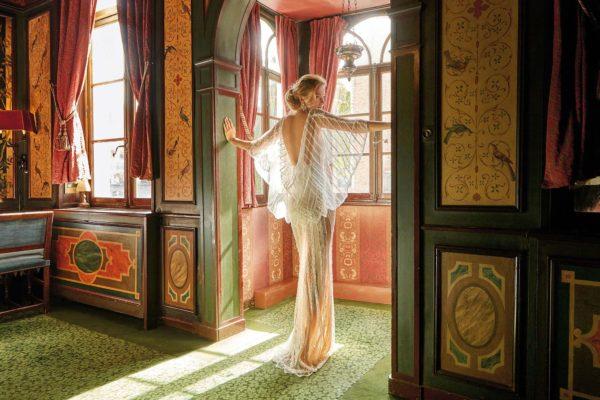 Mira Couture Solo Merav Izabella Wedding Dress Bridal Gown Chicago Boutique Back