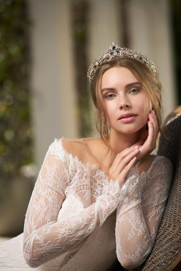 Mira Couture Maria Elena Headpieces Chicago Boutique Bridal Accessories Crown Tiara MT00-09