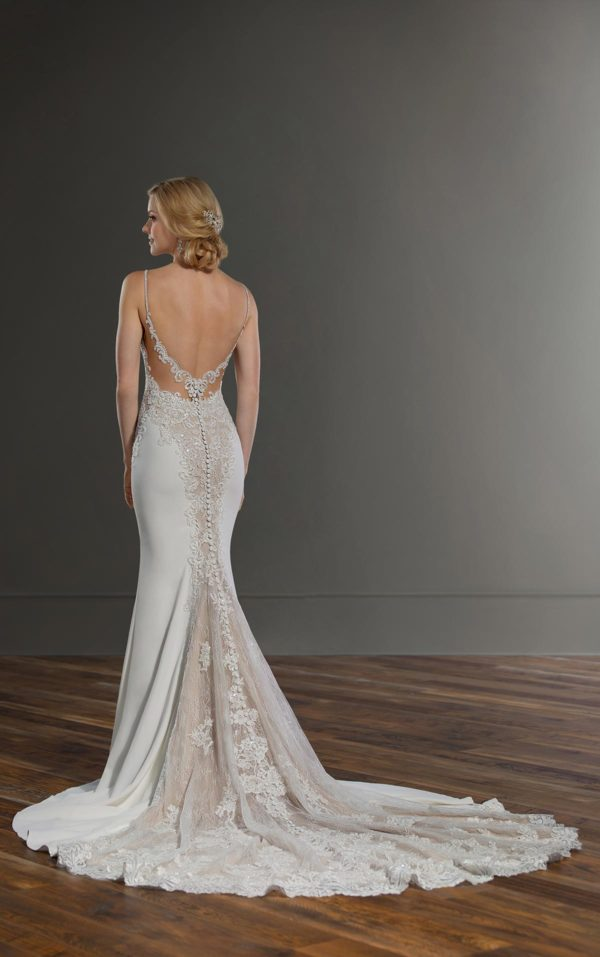 Mira Couture Martina Liana 1004 Wedding Dress Bridal Gown Chicago Boutique Back-1