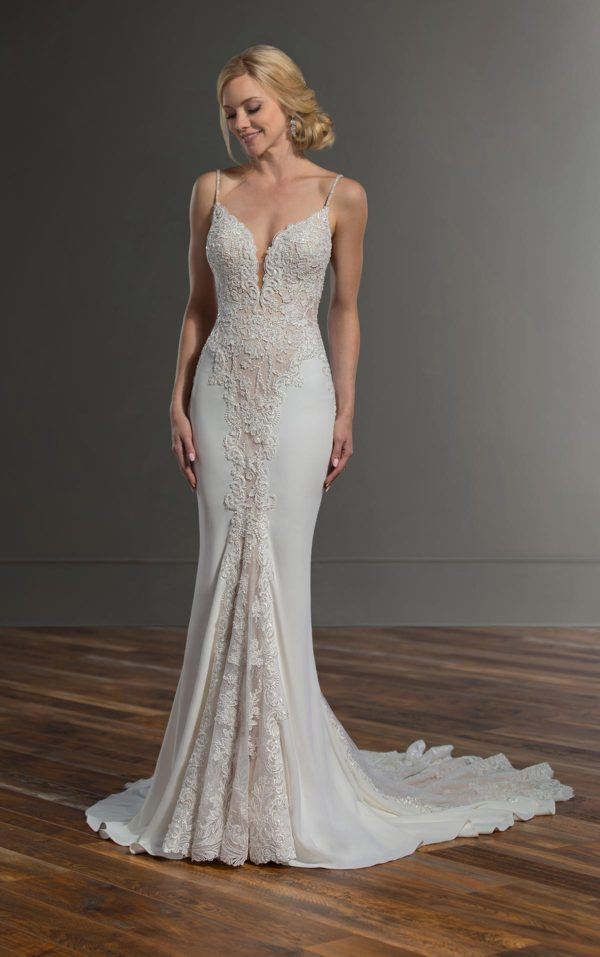Mira Couture Martina Liana 1004 Wedding Dress Bridal Gown Chicago Boutique Front-3