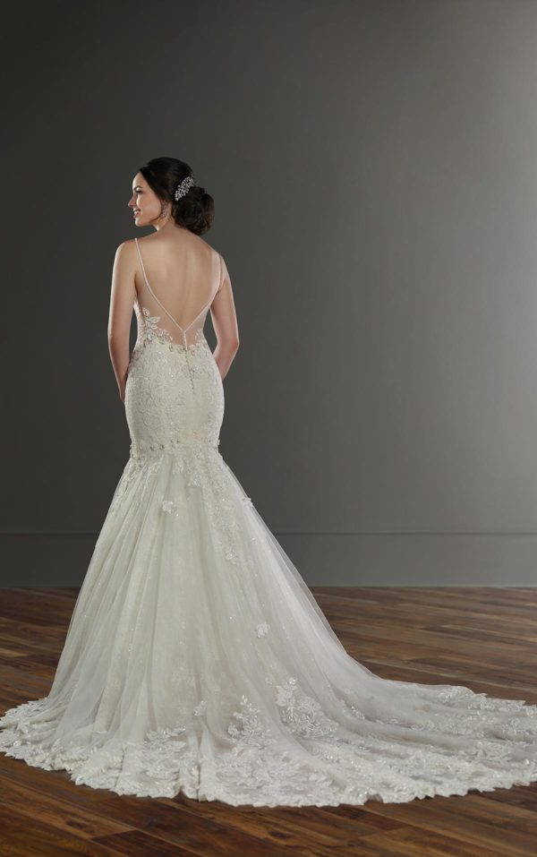 Mira Couture Martina Liana 1032 Wedding Dress Bridal Gown Chicago Boutique Back-1