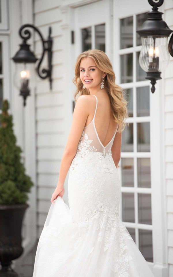Mira Couture Martina Liana 1032 Wedding Dress Bridal Gown Chicago Boutique Back Full