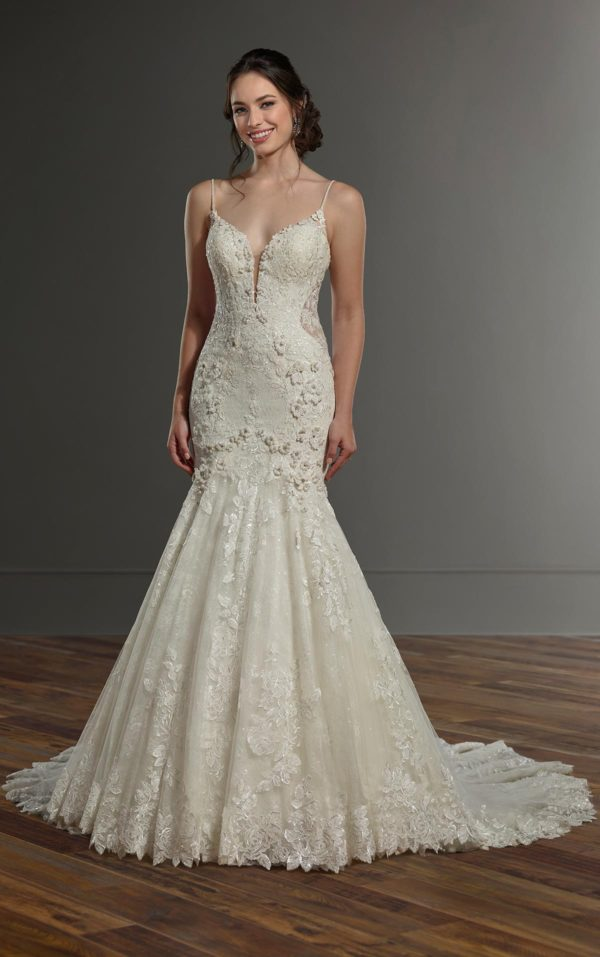 Mira Couture Martina Liana 1032 Wedding Dress Bridal Gown Chicago Boutique Full Front
