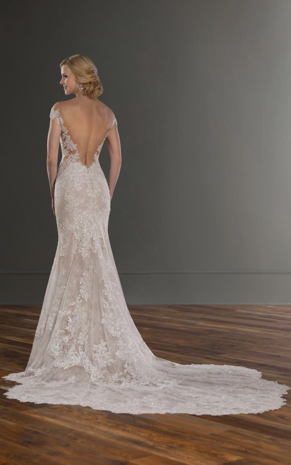 Mira Couture Martina Liana 1047 Wedding Dress Bridal Gown Chicago Boutique Back Full