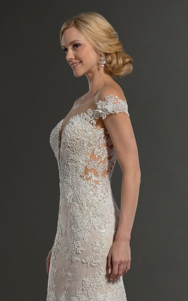 Mira Couture Martina Liana 1047 Wedding Dress Bridal Gown Chicago Boutique Side Detail