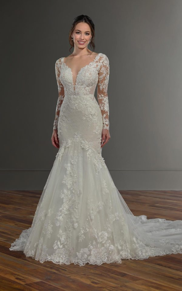 Mira Couture Martina Liana 1054 Wedding Dress Bridal Gown Chicago Boutique Front