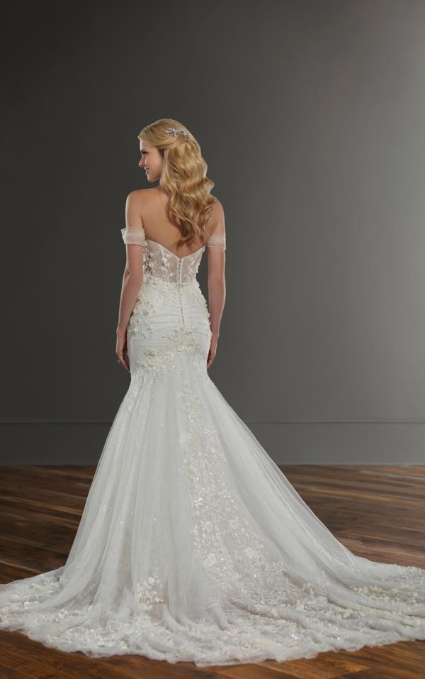 Mira Couture Martina Liana 1057 Wedding Dress Bridal Gown Chicago Boutique Back Full-1