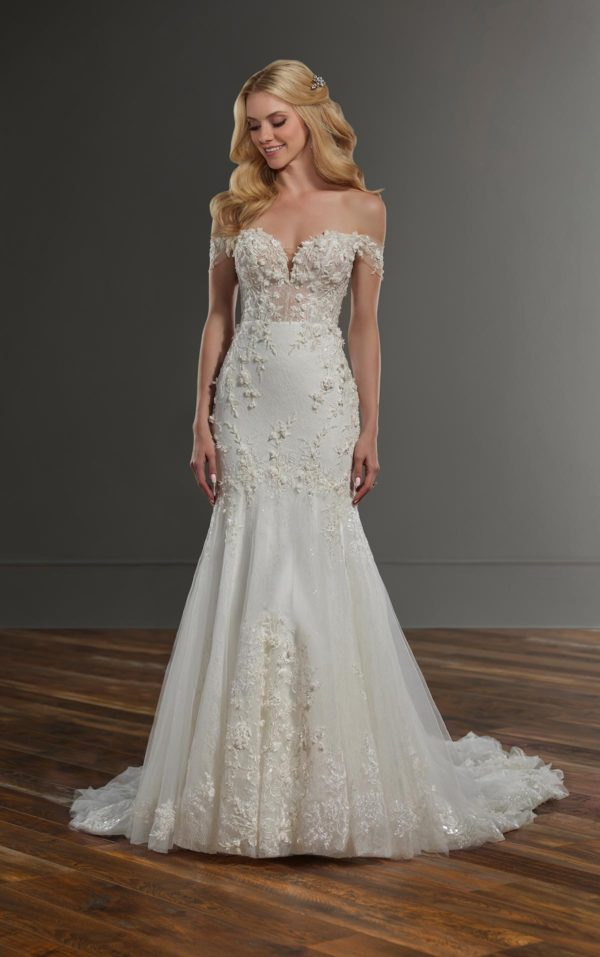 Mira Couture Martina Liana 1057 Wedding Dress Bridal Gown Chicago Boutique Front Full-1