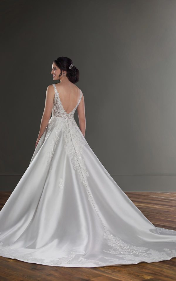 Mira Couture Martina Liana 1075 Wedding Dress Bridal Gown Chicago Boutique Back Full