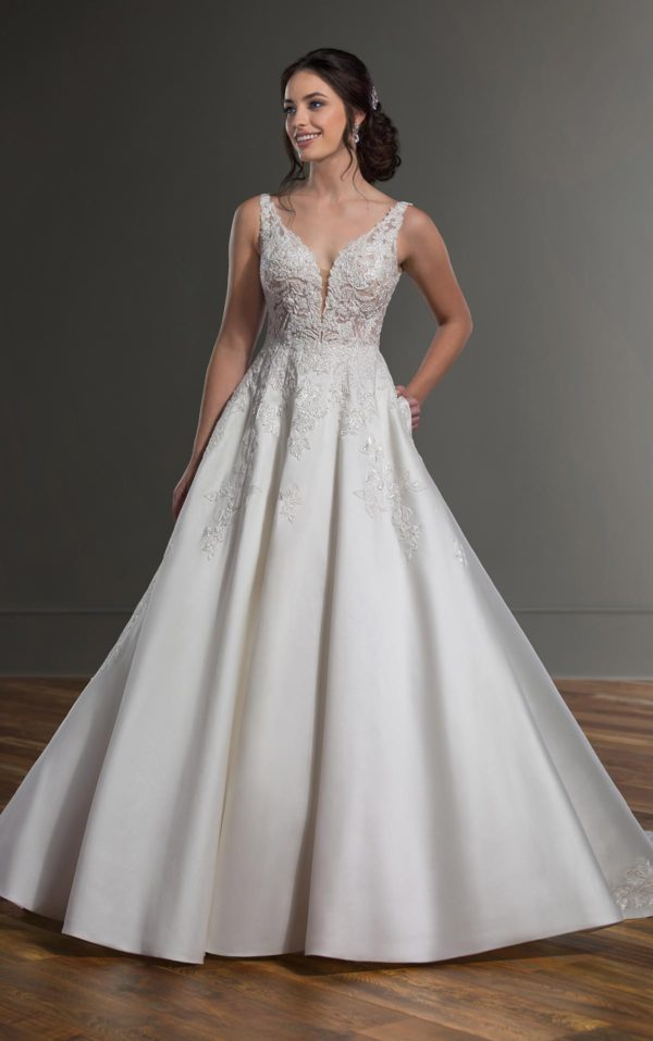 Mira Couture Martina Liana 1075 Wedding Dress Bridal Gown Chicago Boutique Full-2