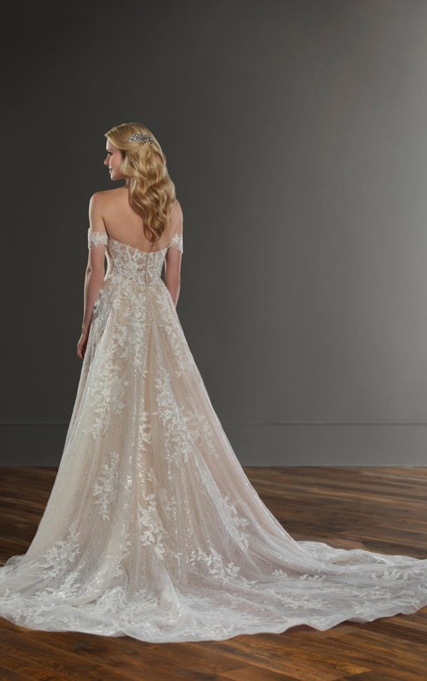 Mira Couture Martina Liana 1086 Wedding Dress Bridal Gown Chicago Boutique Back Full