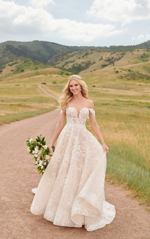 Mira Couture Martina Liana 1086 Wedding Dress Bridal Gown Chicago Boutique Full
