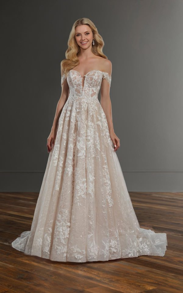 Mira Couture Martina Liana 1086 Wedding Dress Bridal Gown Chicago Boutique Full Front-1