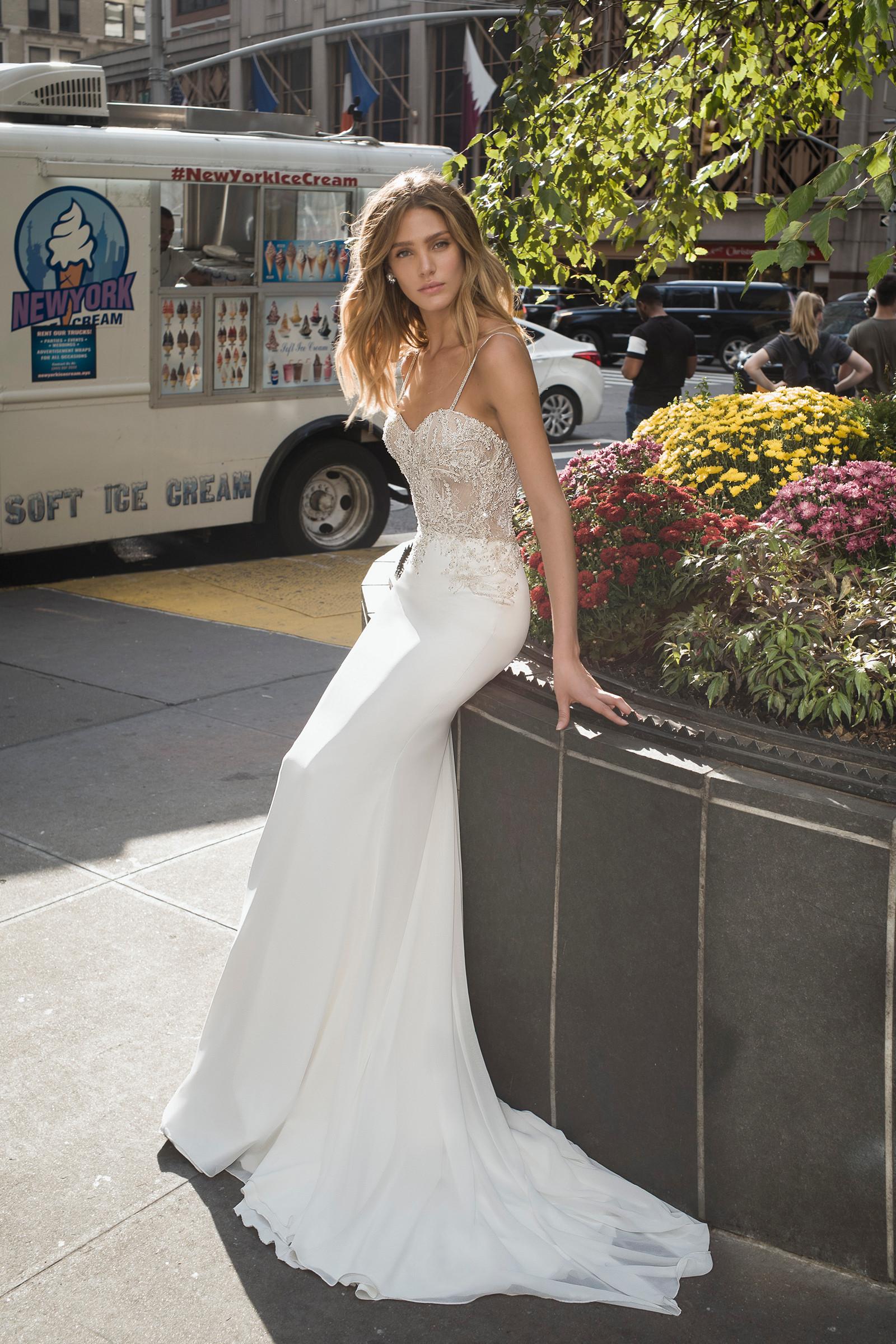 Mira Couture Netta Benshabu Dawn Wedding Dress Bridal Gown Chicago Boutique Full