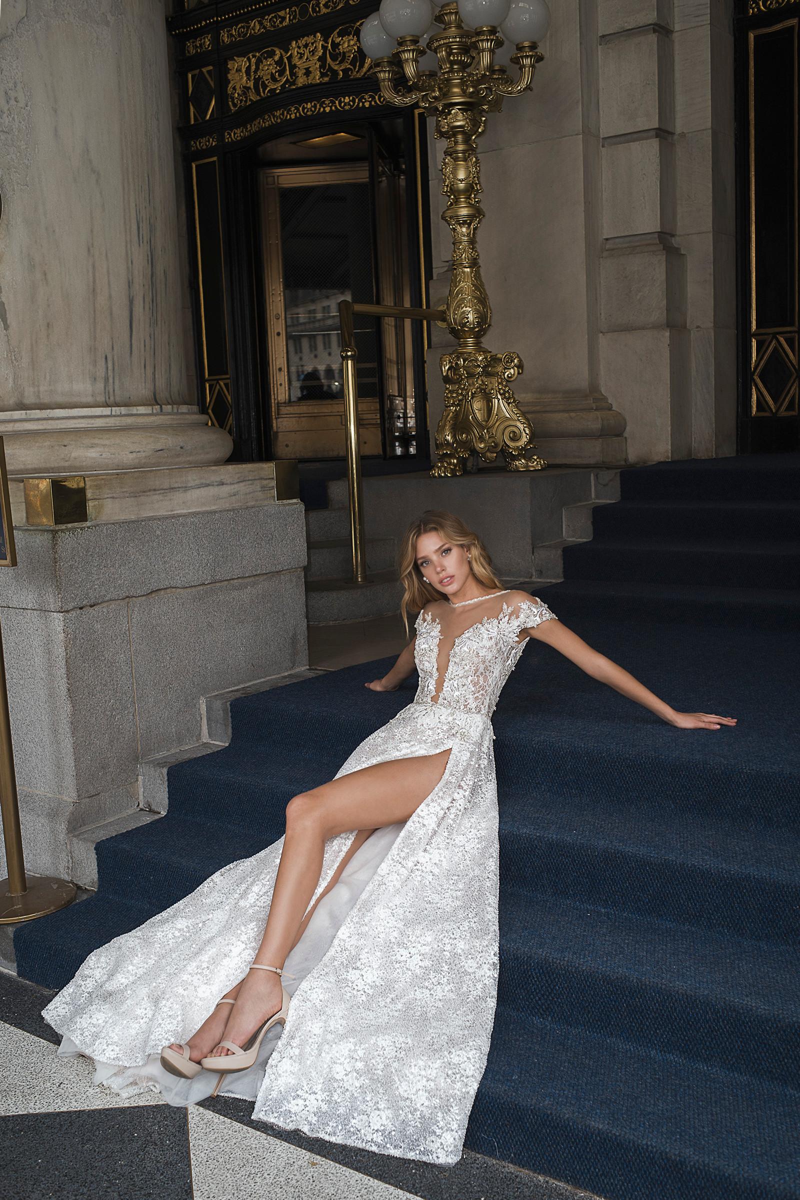 Mira Couture Netta Benshabu Kris Wedding Dress Bridal Gown Chicago Boutique Full-1