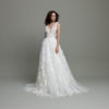Mira Couture Daalarna Whisper 607A Wedding Dress Bridal Gown Chicago Boutique Front