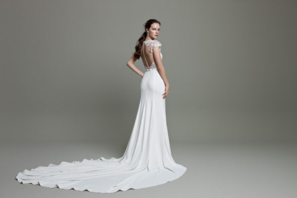 Mira Couture Daalarna Whisper 627 Wedding Dress Bridal Gown Chicago Boutique Back