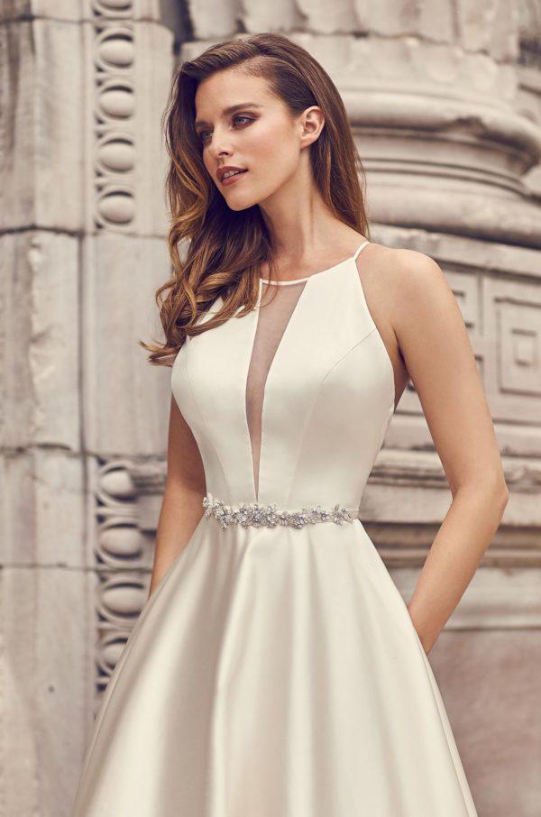 Mira Couture Mikaella 2236 Wedding Dress Bridal Gown Chicago Boutique Detail
