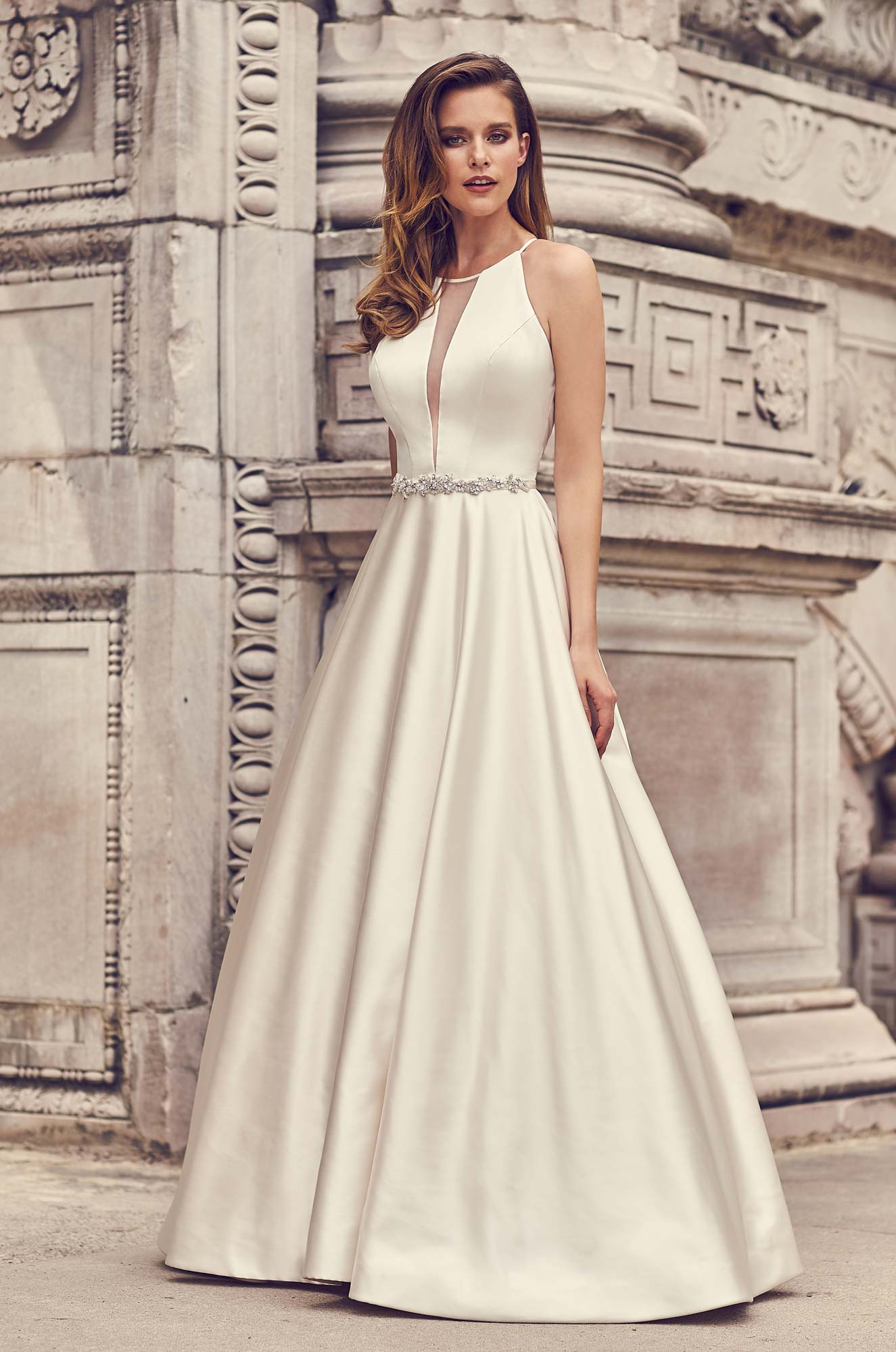 Mira Couture Mikaella 2236 Wedding Dress Bridal Gown Chicago Boutique Full