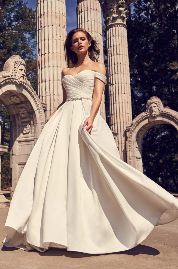 Mira Couture Mikaella 2243 Wedding Dress Bridal Gown Chicago Boutique Full