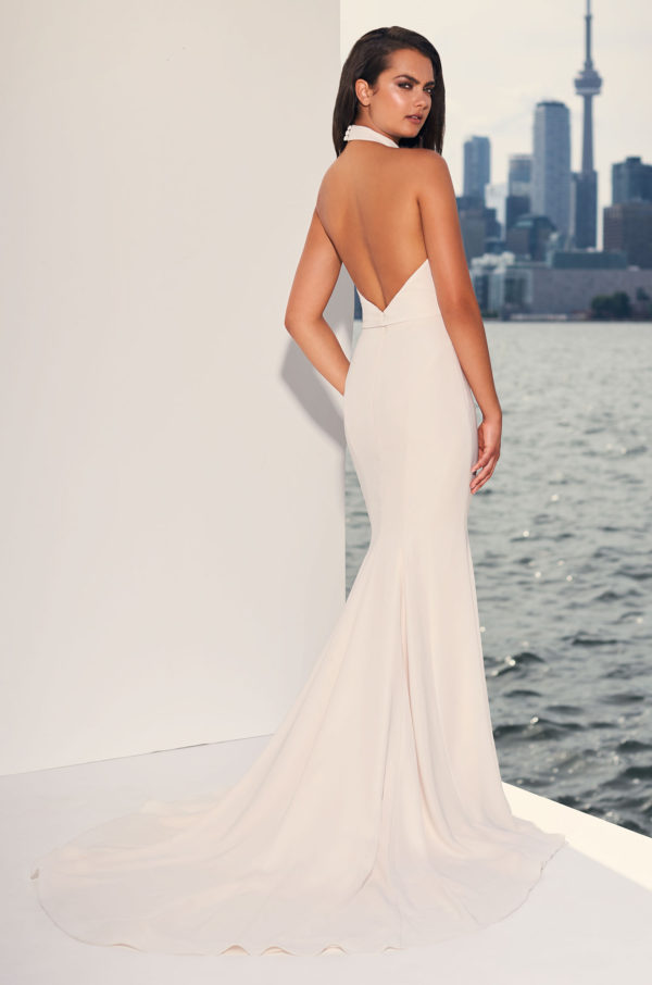 Mira Couture Paloma Blanca 4841 Wedding Dress Bridal Gown Chicago Boutique Back