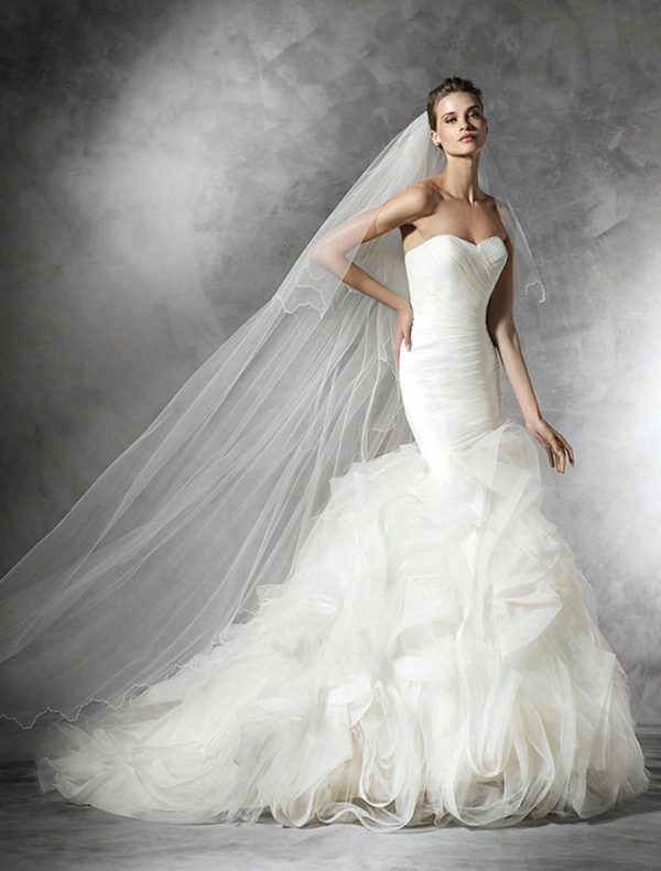 Mira Couture Pronovias Mildred Wedding Dress Bridal Gown Chicago Boutique Full