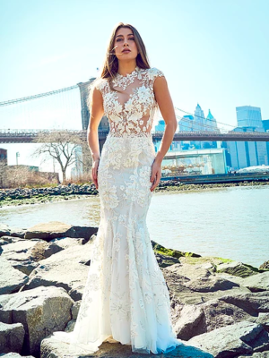 57bec1525a Mira Couture Stephen Yearick 14313 Wedding Dress Bridal Gown Chicago  Boutique Front