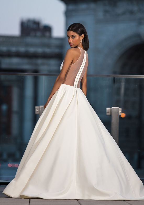 Mira Couture Justin Alexander Signature 99042 Wedding Dress Bridal Gown Chicago Boutique Back