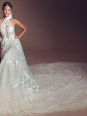 Mira Couture Elihav Sasson e032 Wedding Dress Bridal Gown Chicago Illinois Boutique Front