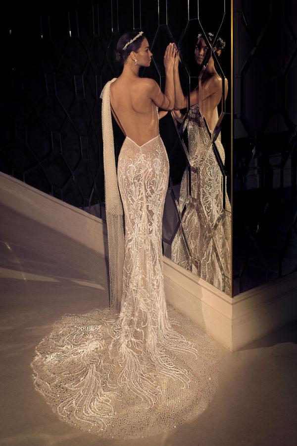 Mira Couture Elihav Sasson e083 Wedding Dress Bridal Gown Chicago Illinois Boutique Back