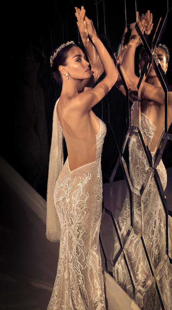Mira Couture Elihav Sasson e083 Wedding Dress Bridal Gown Chicago Illinois Boutique Side