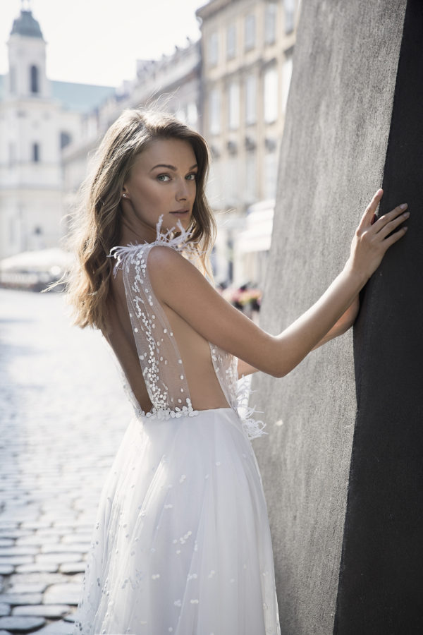 Mira Couture Neta Dover Style 1102419 Wedding Dress Bridal Gown Chicago Boutique Back Detail