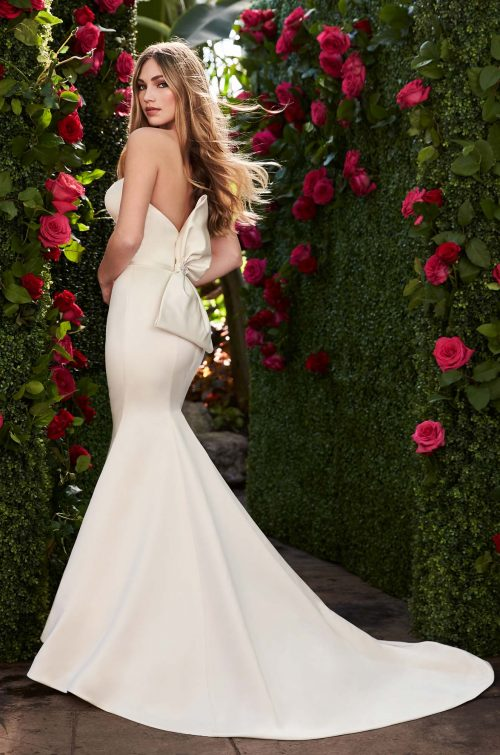 Mira Couture Mikaella 2267 Wedding Dress Bridal Gown Chicago Boutique Back