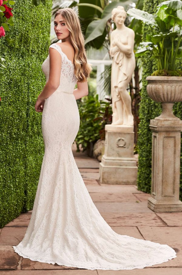 Mira Couture Mikaella 2271 Wedding Dress Bridal Gown Chicago Boutique Back