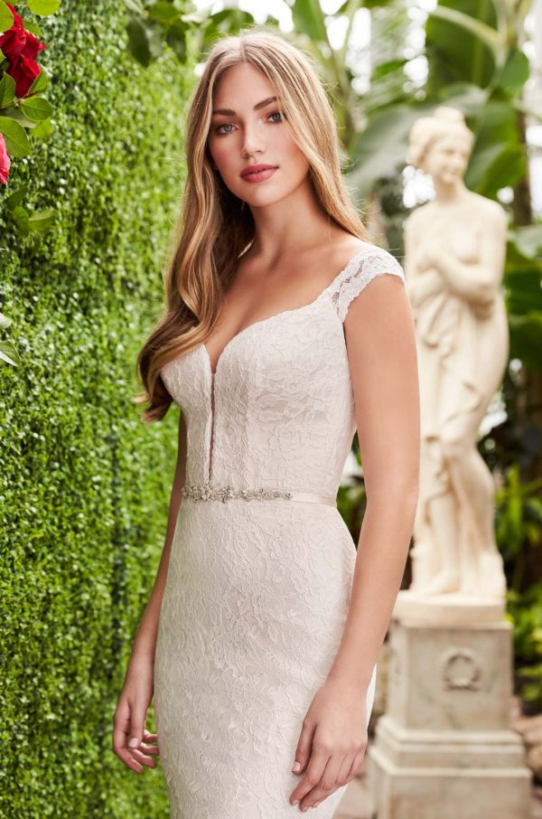 Mira Couture Mikaella 2271 Wedding Dress Bridal Gown Chicago Boutique Front Detail