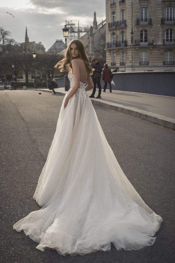 Mira Couture Netta Benshabu Shihlo Wedding Dress Bridal Gown Israeli Designer Chicago Boutique Back