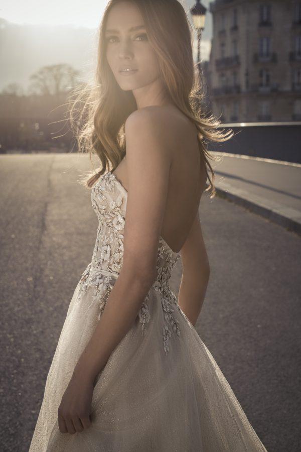 Mira Couture Netta Benshabu Shihlo Wedding Dress Bridal Gown Israeli Designer Chicago Boutique Side